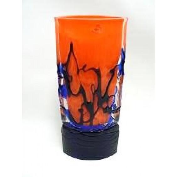 12330/30/CT Ваза эллипс синяя+оранжевая
