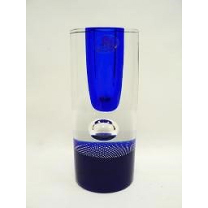 11526/15 Ваза синяя+син центр+пузыри