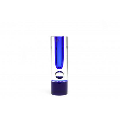 11526/26 Ваза прозрачная с синим центром и пузырем.
