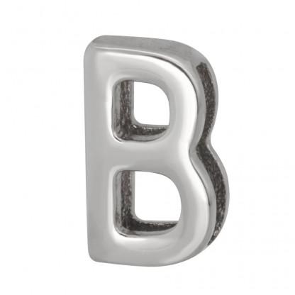 """Шарм """"B"""" из стали для браслета PBR349"""
