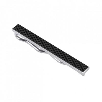Зажим для галстука из стали, черное покрытие