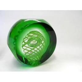 56591/12/3W Пресс-папье атипич зелен+светло зелен деталь