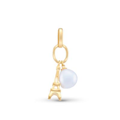 """Кулон из серебра 925 пробы с позолотой """"Французский шарм"""", 4,45 гр."""