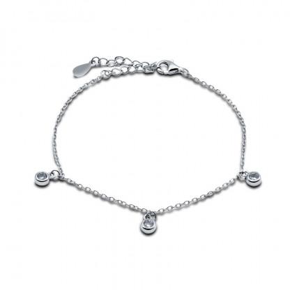 """Тонкий браслет-цепочка из серебра 925 пробы """"Каприз"""", 1.63гр."""