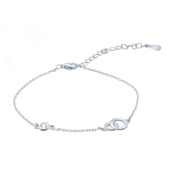"""Браслет-цепь из серебра 925 пробы """"Бесконечность"""" 1.48гр."""