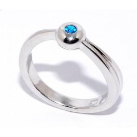 """Кольцо из серебра 925 пробы """"Сапфир"""""""", 3.87гр."""