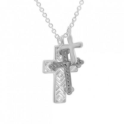 """Колье из серебра 925 """"Три креста"""""""