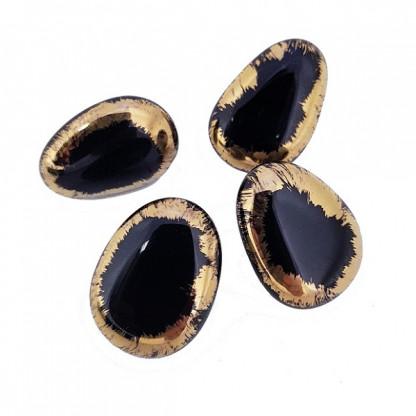 Серьги пусеты из муранского стекла, цвет золото или платина