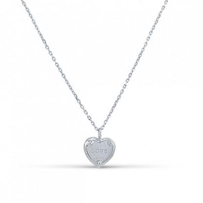 """Колье """"Love"""" из серебра 925"""