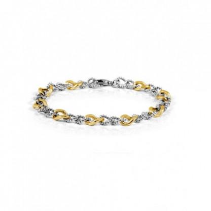 Браслет-цепочка стальной с золотым покрытием