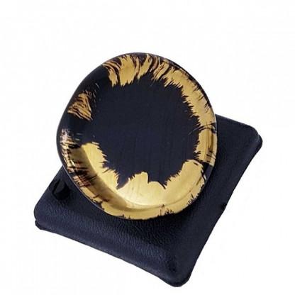 """Кольцо """"Винченцо"""" из муранского стекла, цвет золото"""